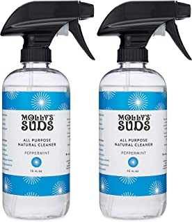 product image for New Molly's Suds Natural All Purpose Cleaner, Multi Surface Household Spray, Peppermint Scent, 16 oz (2 Pack)