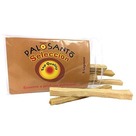 Incienso Natural Palo Santo - Variedad Selecciòn - 6 Palitos - Buen Humor, energía Positiva, purificación, perfumar el hogar - Sanacion Chamanica