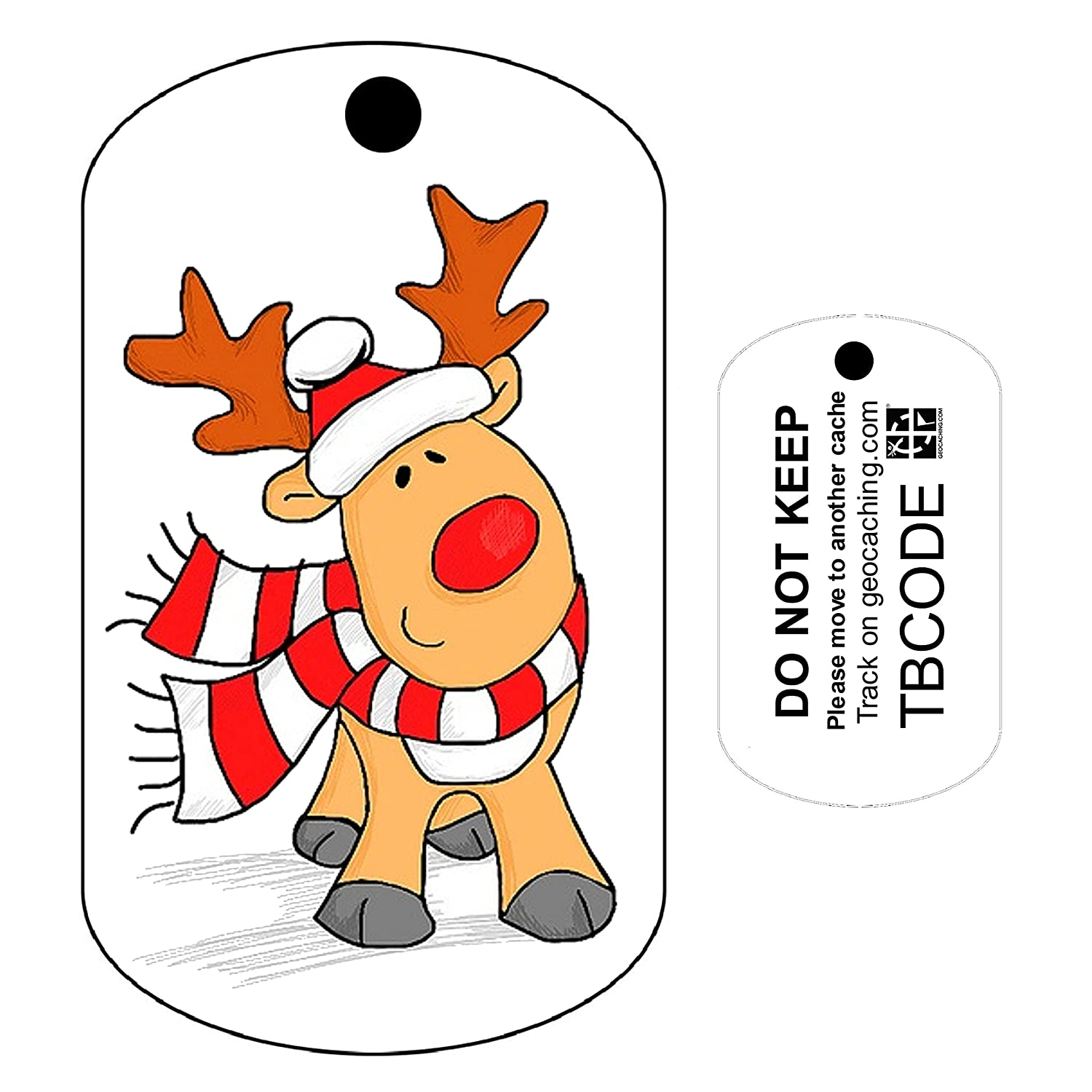 Rudolph the Reindeer (Travel Bug) For Geocaching - Trackable Tag - Unactivated