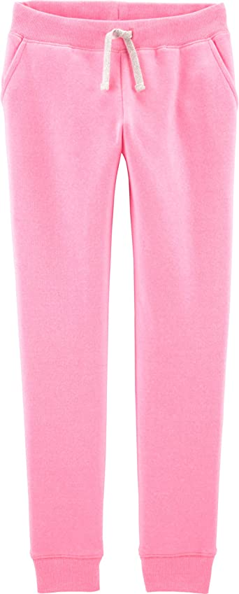 OshKosh BGosh Girls 2T-8 Logo Drawstring Pants Heather 4T