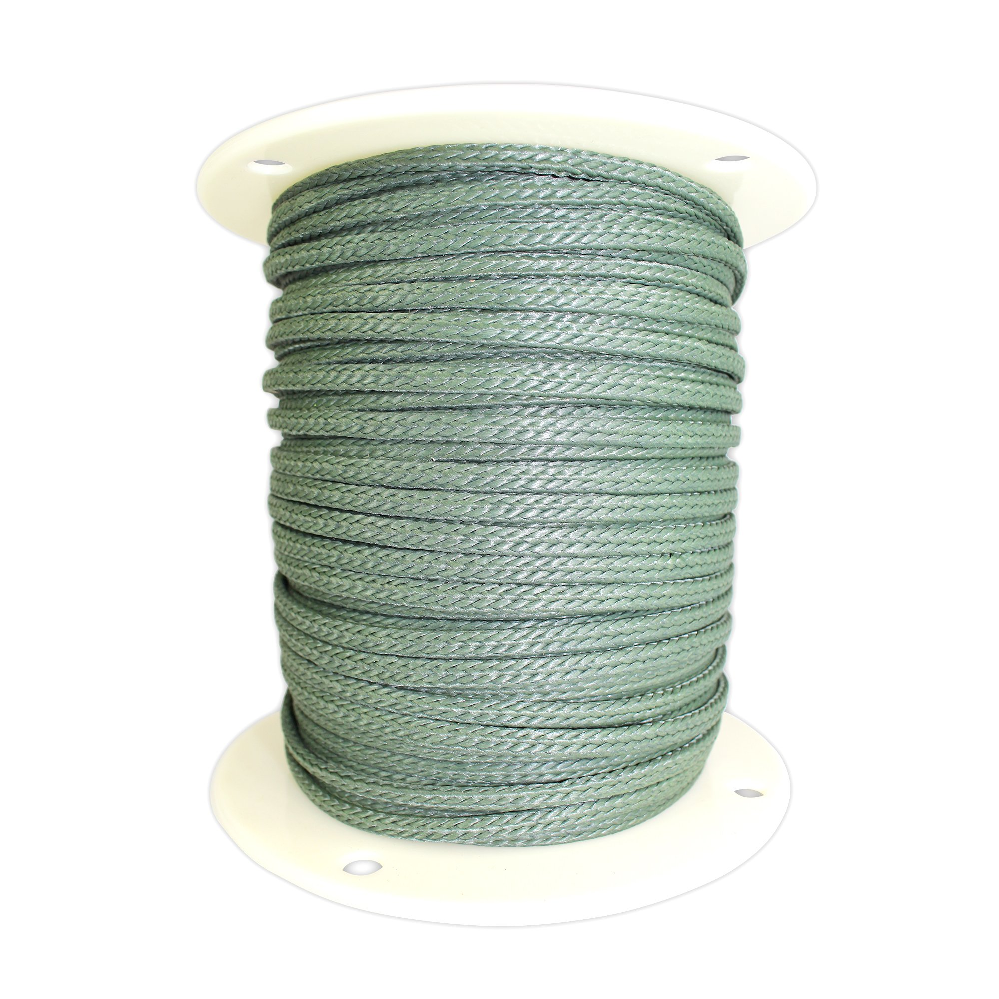 SGT KNOTS Braided Polyester Rope (1/4 in - 6mm) Braid on Braid Stiff Halter Cord - DIY Horse Halter - Low Stretch Cord for Arborist/Tree Rigging, Hiking, Crafting (25 ft - Coil, Hunter Green)