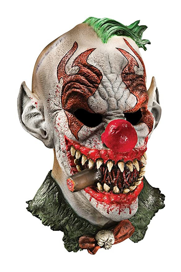 amazoncom foam latex mask deluxe fonzo the clown adult clothing