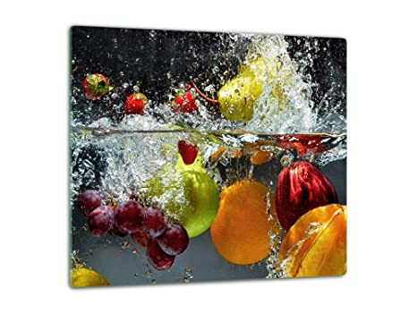 Hyggelia Placa vitrocerámica 60x52cm Placa de Cubierta Tabla de Cortar Vidrio Protector contra Salpicaduras Estufa Placas de Cubierta Estufa de Vidrio ...