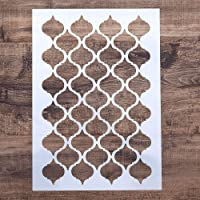 DIY Decorative Moroccan Stencil Template for Painting on Walls Furniture Crafts (A2 Size)