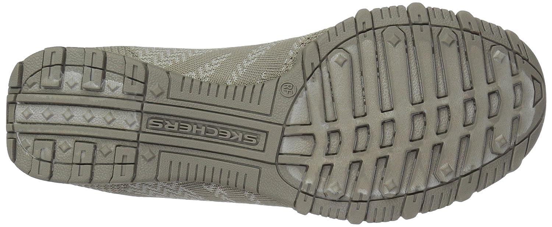 Skechers Rund Bikers-Knit Happens Rund Skechers Maschenweite Slipper Taupe b03910
