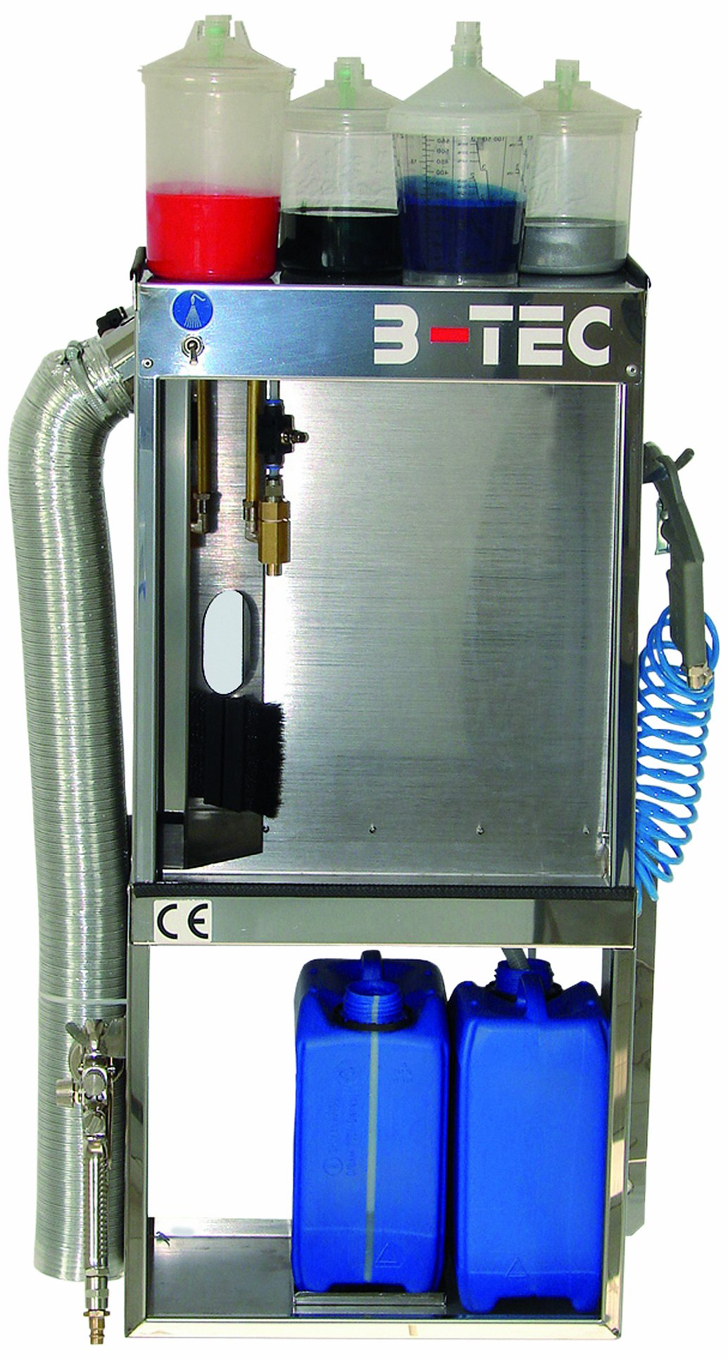 B-TEC Systems SB-400 Stainless Steel Changeover Manual Cleaning Station Speedbox for Disposable Cup System, 20'' Width x 9'' Depth x 30'' Height,for Solvent or Water