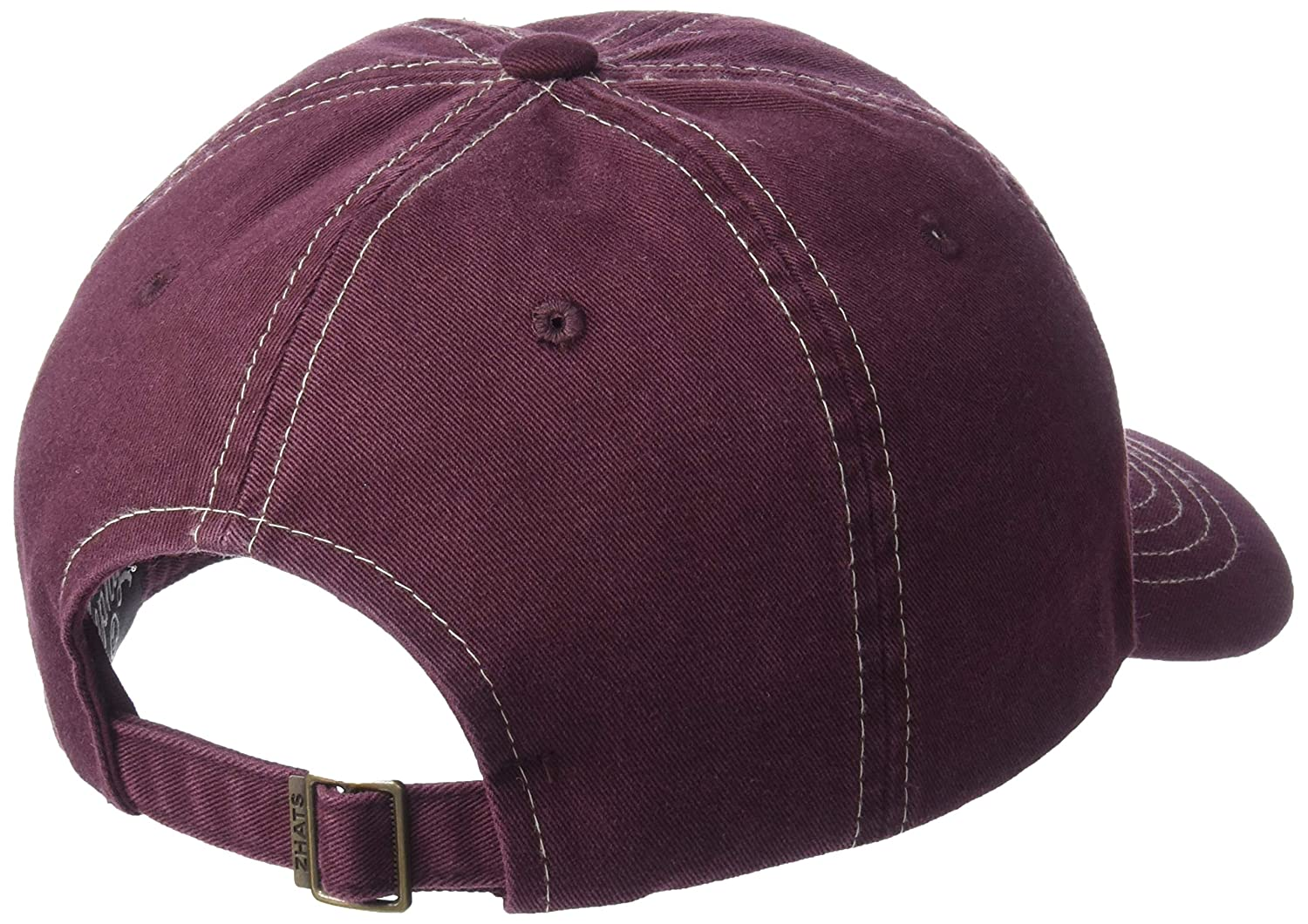 NCAA Zephyr Virginia Tech Hokies Mens Solo Washed Cotton Relaxed Hat Primary Team Color Adjustable