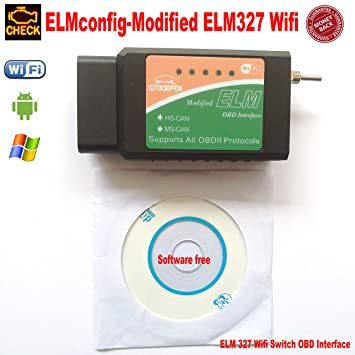 ELM327 WiFi, Forscan ELMConfig Modified 327 WiFi, Code