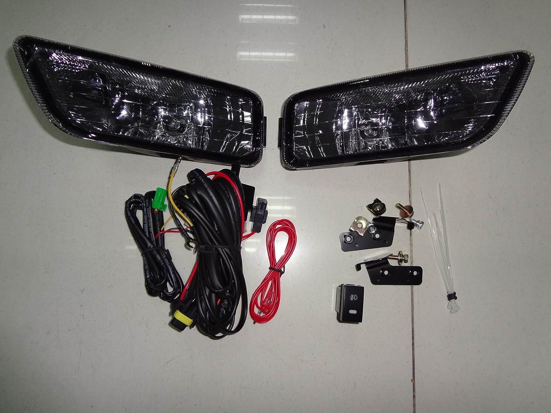 Amazon.com: Honda Accord 4dr Sedan 03-07 Inspire Smoke JDM K11 Fog Lights  Lamps Foglights Black: Automotive