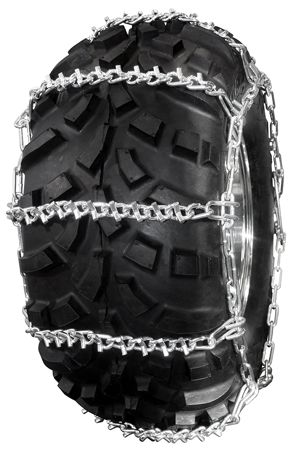 V-Bar Reinforced 4 Link Spacing Ladder Style ATV Traction Chain for 2 tires PAIR ICC ATV323