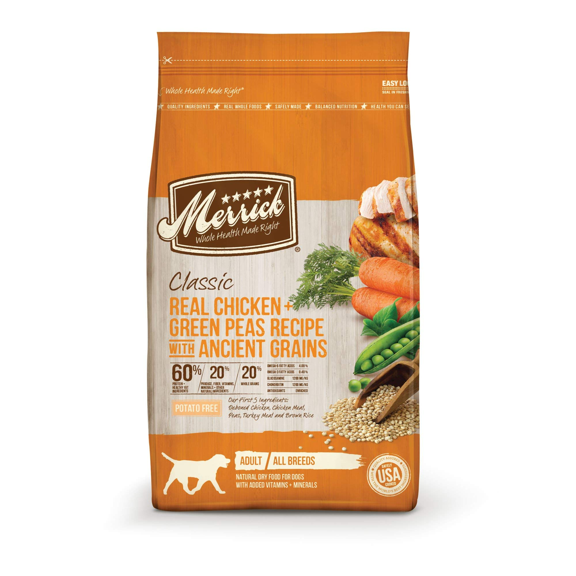 Merrick Dry Dog Food with added Vitamins & Minerals for All Breeds, 25-Pound, Chicken by Merrick