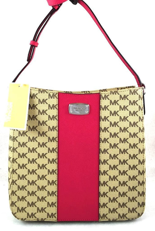 5b620c420694 Amazon.com  MICHAEL MICHAEL KORS JET SET TRAVEL CENTER STRIPE PINK  CROSSBODY MESSENGER BAG  Shoes