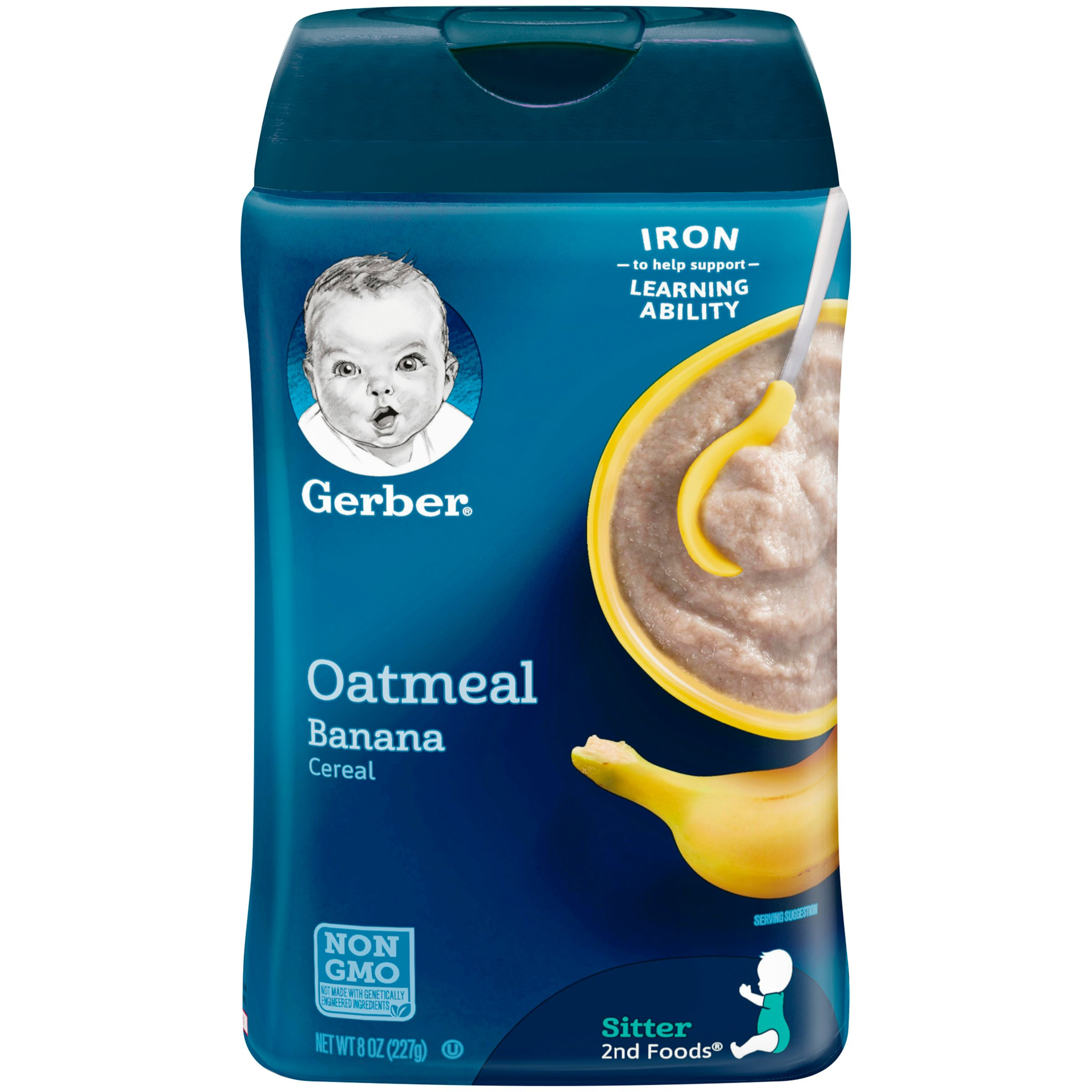 Gerber Oatmeal and Banana Baby Cereal, 8 Ounce (Pack of 6)