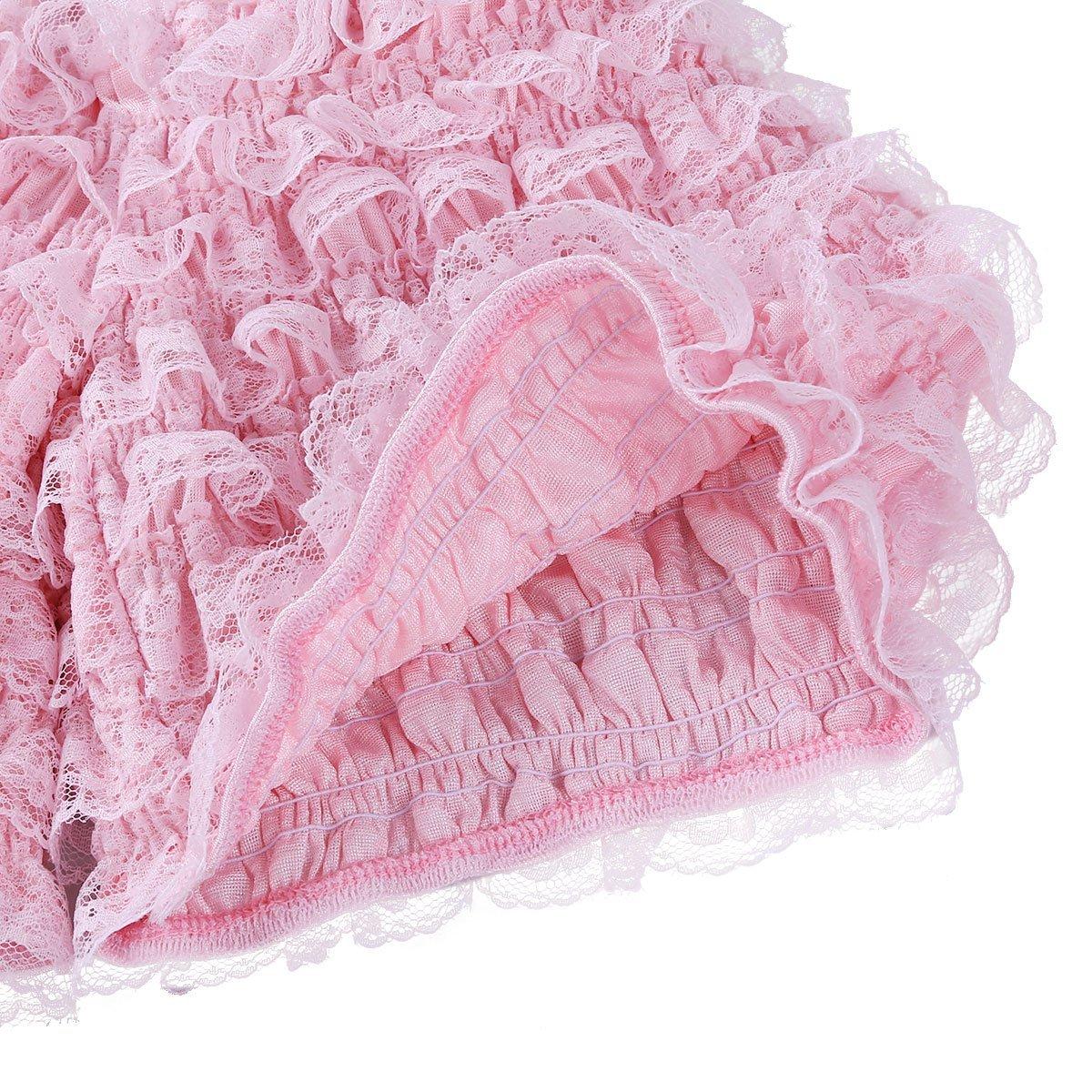 iiniim Pantalon Court Femme Victorien Dentelle Volants Culotte Bouffante Lolita Pumpkin Shorts de Danse Pants Sarouel Mode Short de Pyjama M-XL