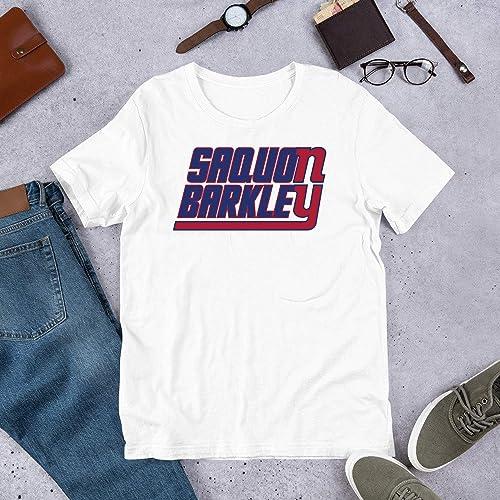 newest 9c5b0 8a532 Saquon Barkley on the Giants 84 T shirt Hoodie ... - Amazon.com