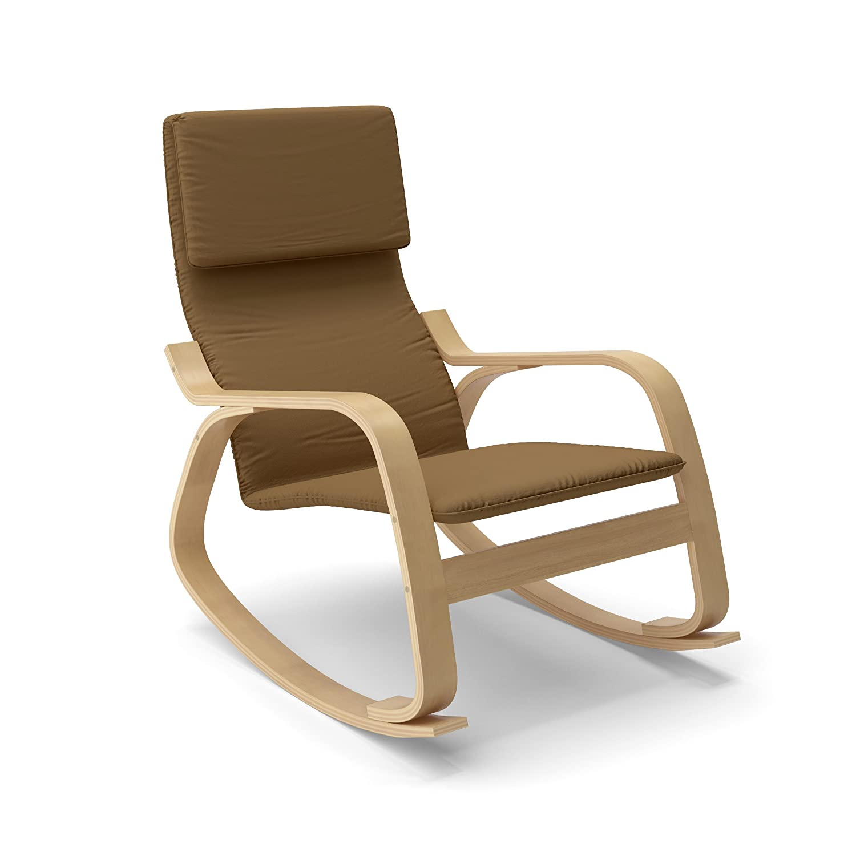 Elegant Amazon.com: CorLiving LAQ 625 C Aquios Bentwood Contemporary Rocking Chair,  Warm Brown: Kitchen U0026 Dining
