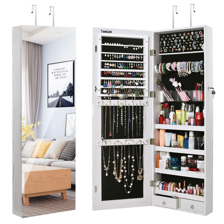 Armoire Jewelry Cabinet Jewelry TomCare Wall Storage Jewelry ...