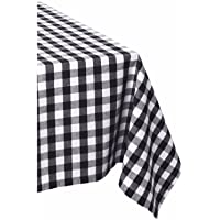 "DII 100% Cotton, Machine Washable, Dinner, Summer & Picnic Tablecloth, 60 X 84"", Seats 6 to 8 People"