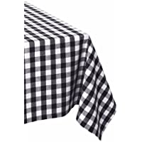 """DII 100% Cotton, Machine Washable, Dinner, Summer & Picnic Tablecloth, 60 X 84"""", Seats 6 to 8 People"""