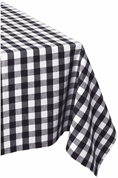 Superbe DII 60x84u0026quot; Rectangular Cotton Tablecloth, Black U0026 White Check    Perfect For Fall,