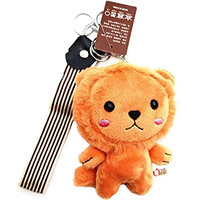 OldFriend Cute Lion Plush Keyring Keychain Stuffed Animal Toy Charm  Backpack Clip