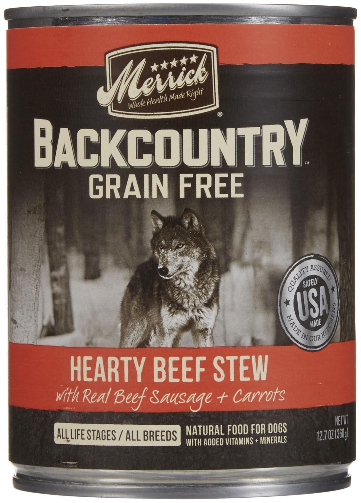 Merrick Backcountry - Hearty Beef Stew - 12.7 oz - 12 ct