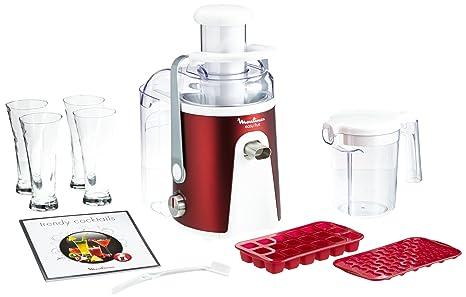 Moulinex JU587G - Exprimidor eléctrico, color rojo