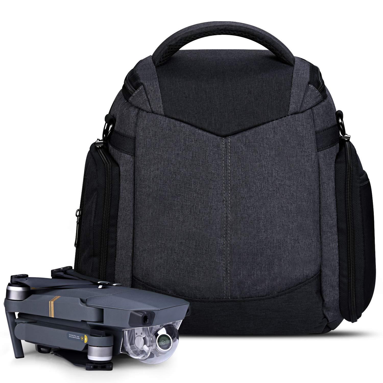 Estarer Travel Drone Backpack for DJI Mavic 2 Pro, Mavic 2 Zoom, Mavic Pro, Mavic Pro Platinum, Daily Waterproof Drone Carrying Case/Shoulder Bag by ESTARER