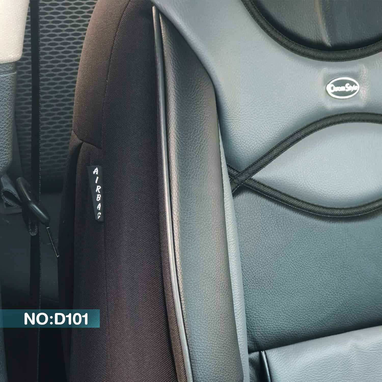 Ma/ß Sitzbez/üge kompatibel mit Skoda Scala Fahrer /& Beifahrer ab 2018 FB:910