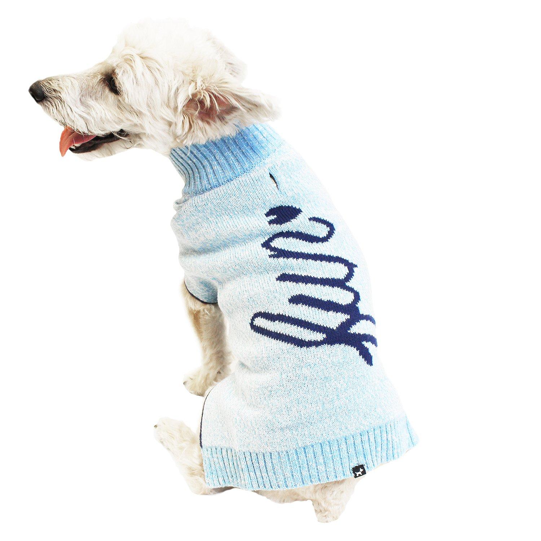 bluee XXX-Large bluee XXX-Large Hotel Doggy Snow bluee Fun Intarsia Sweater