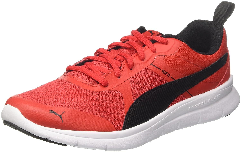 Puma Flex Essential, Zapatillas Unisex Adulto 45 EU Rojo (Flame Scarlet-puma Black)
