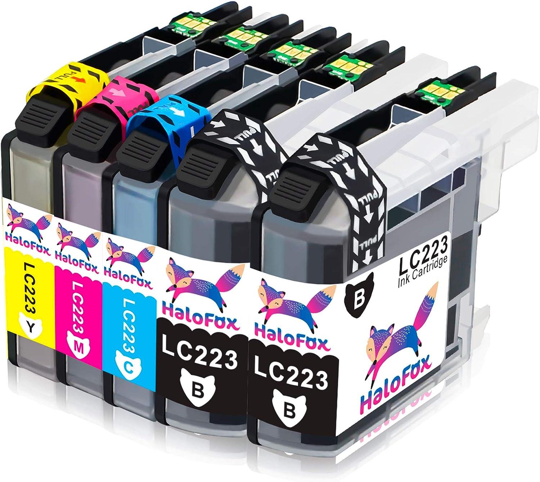 HaloFox 5 Cartuchos de Tinta LC223 para Brother DCP-J4120DW DCP ...