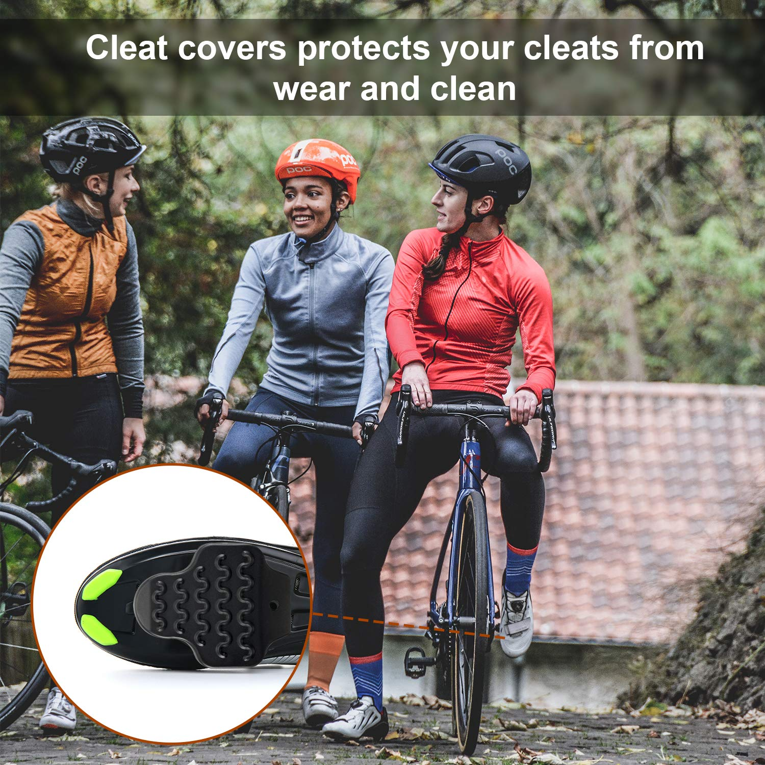 Etercycle Bike Cleats Cover Set Compatible with Look Delta//KEO Cleats,Perfect for Indoor Outdoor Cycling Shoes Road Grip Pedals Spining Class Cycle