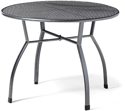 Gartenmöbel Tisch Rund.Greemotion Gartentisch Toulouse Rund ø Ca 100 Cm Pflegeleichter Tisch Aus Kunststoffummanteltem Stahl Esstisch Mit Niveauregulierung Eisengrau
