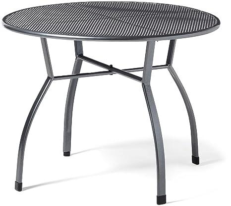 Greemotion Table De Jardin Ronde Toulouse De 100 Cm De Diametre