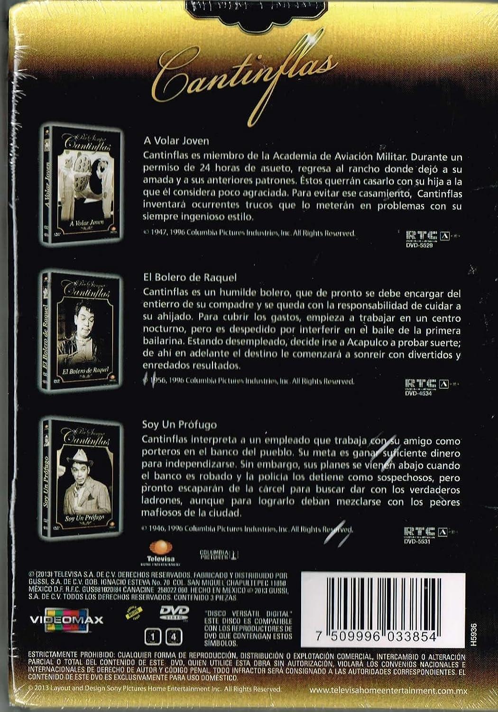 Amazon.com: CANTINFLAS (3 PELICULAS) A VOLAR JOVEN & EL BOLERO DE RAQUEL & SOY UN PROFUGO [NTSC/Region 1 and 4 dvd. Import - Latin America].