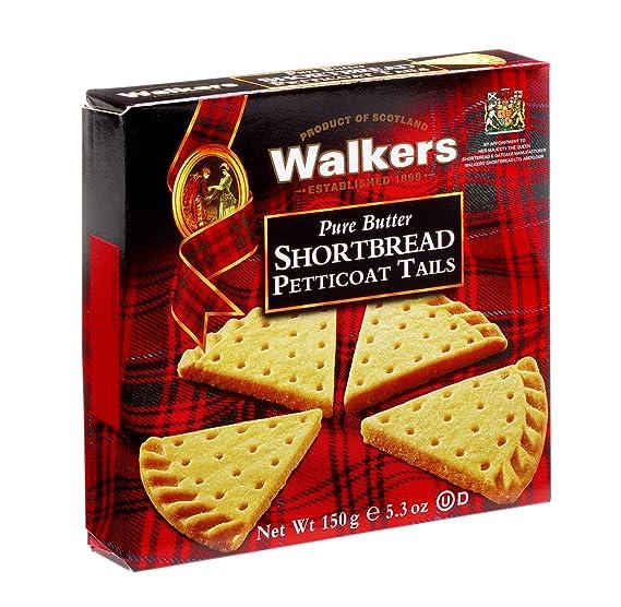 Walkers Shortbread Petticoat Tails Postre - 6 Paquetes de 1 x 150 gr - Total: