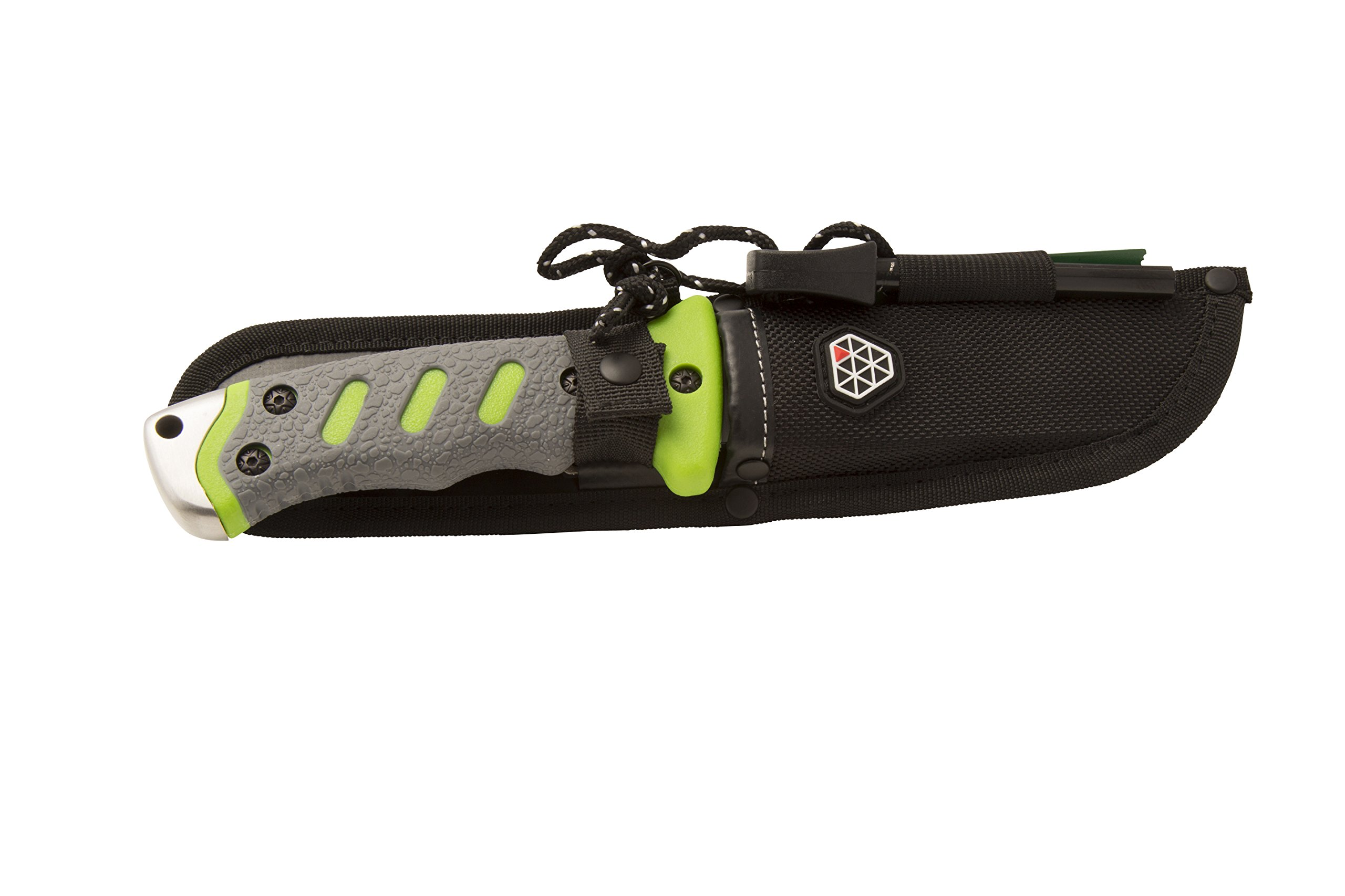 Boundary 92737 Outdoor Survival Knife with Fixed 4.5-inch Partially Serrated 420 Stainless Blade and Sheath, Survival Tools by Boundary (Image #3)