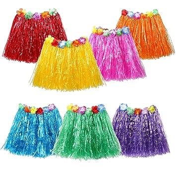 1bdeadcdc JUNGEN Falda de Hierba de Hula de Niños Falda de Hierba Hawaiana para Ropa  de Baile ...