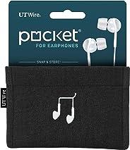 UT Wire UTW-PK02-NG Funda de bolsillo para cargador de móvil, Earbud Case, Negro