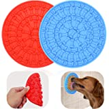 Helpcook Dog Lick Pad, Dog Washing Distraction Device,Pet Bath Grooming Helper,Slow Treat Dispensing Mat-Super Strong…