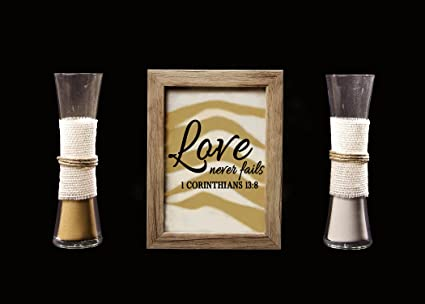 Amazon.com : Rustic Barn Wood Wedding Unity Sand Ceremony Frame Set ...