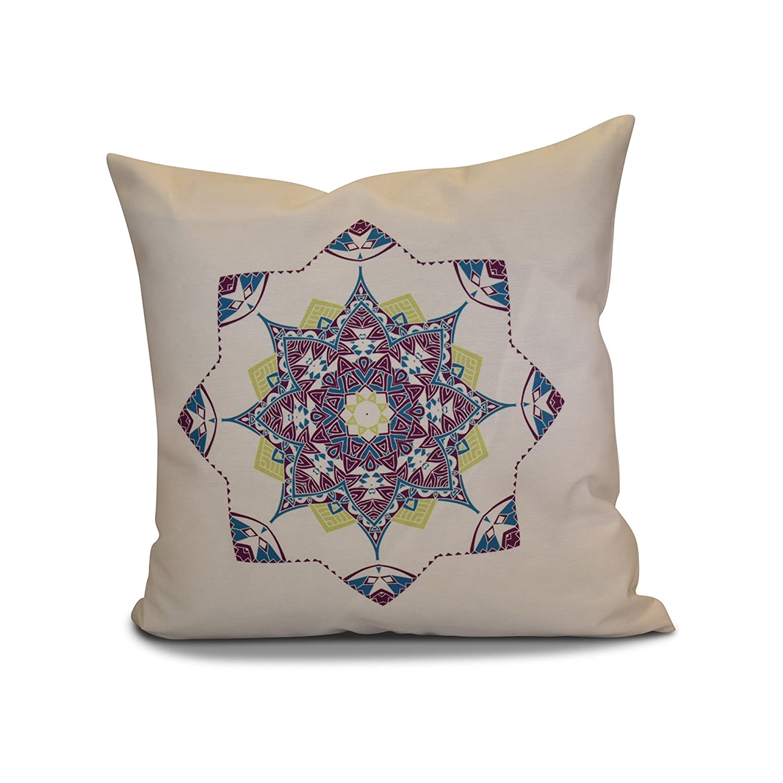 Purple 16x16  E by design 16 x 16inch, Snowflake Star Pillow, Cranberry