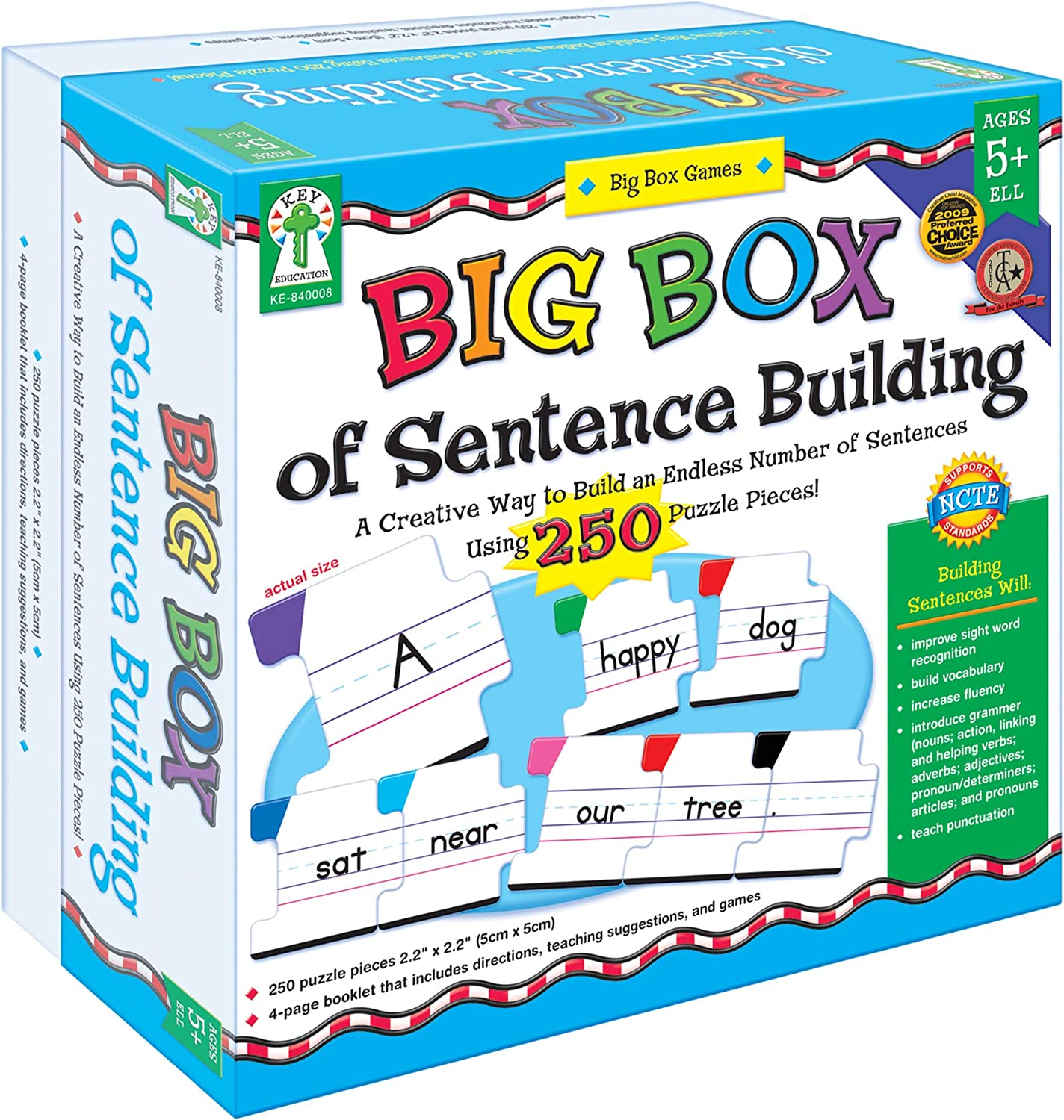 Key Education Publishing Big Box of Sentence Building Games Learning Materials for Age 5 and Up, 840008 : Books : Office Products