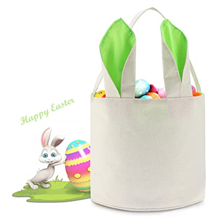 Easter Basket Egg Hunts Party Bag For Kids Candy Bucket Bunny
