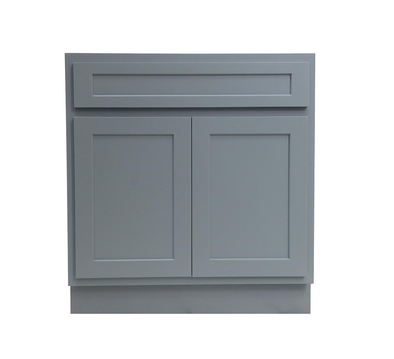 Vanity Art 24 Inch Gray Bathroom Vanity Cabinet 2 Doors Va4024 G