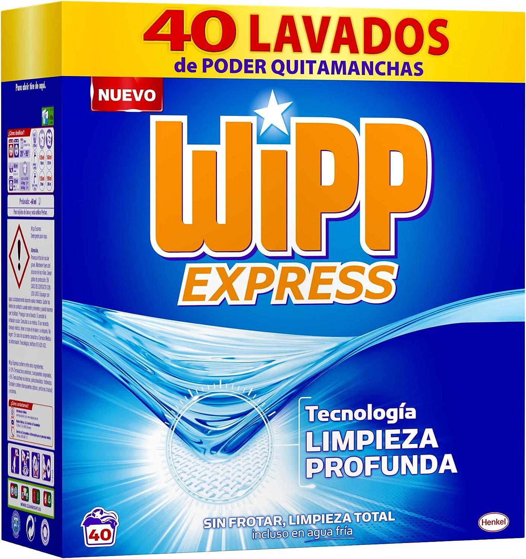 WiPP Express Detergente Polvo, 40 Dosis, Pack de 1: Amazon.es ...
