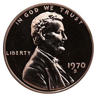 1970 S PROOF LINCOLN MEMORIAL CENT PENNY