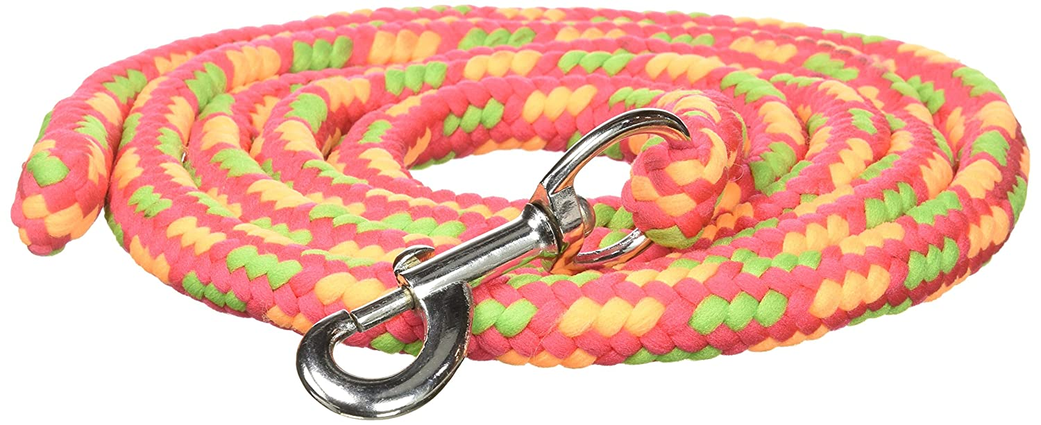 Neon Rainbow 8ft Neon Rainbow 8ft Tough 1 8' Braided Soft Poly Lead Rope