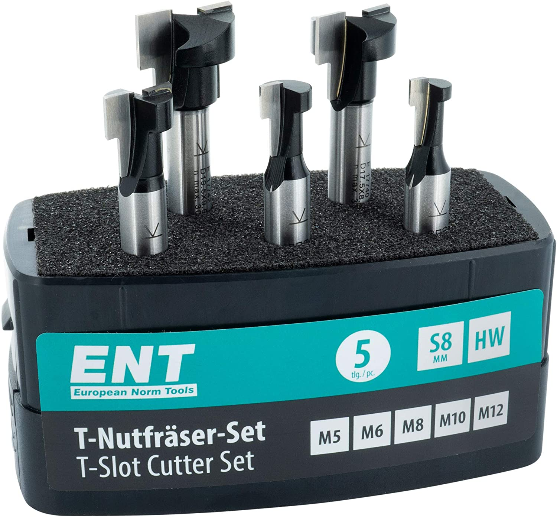 ENT T-nutfräser HW HM pour m5 m6 m8 et autres dimensions-Tige 8 mm